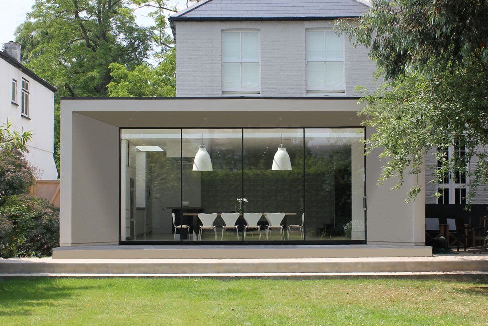 Imposing modern elevation